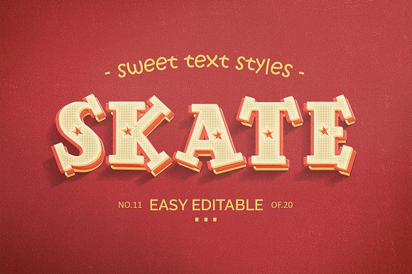 Sweet Text Style Vol.2 - Layer Styles