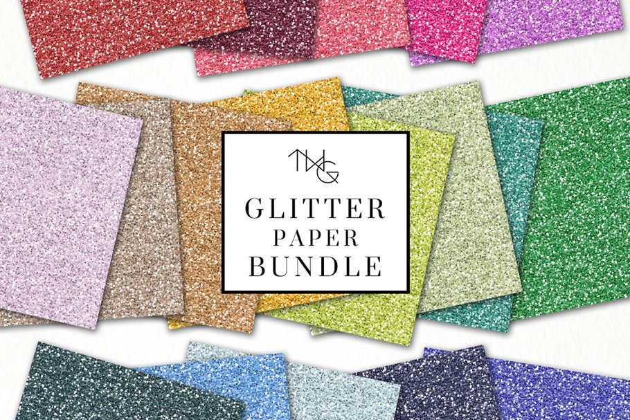 Glitter Paper Bundle 80 Colors