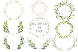 Premium Wreaths and branches