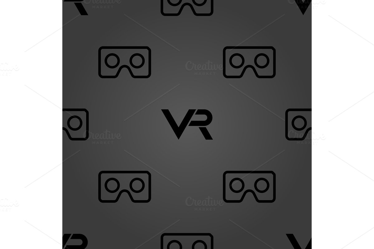 Seamless Vector Pattern With VR