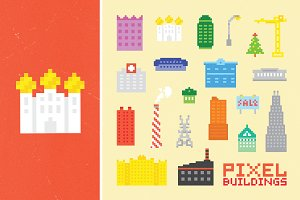 Pixel building set 2