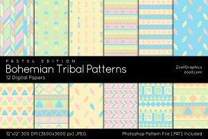 Bohemian Tribal Digital Papers