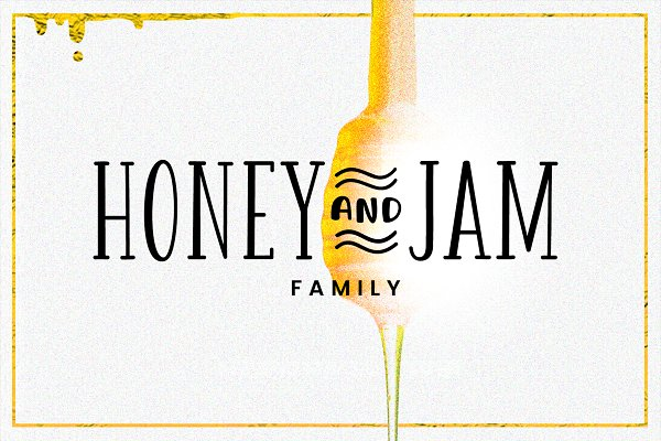 Best Honey and Jam - Family Vector