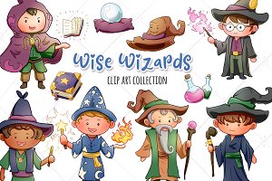 Wise Wizards Clip Art Collection