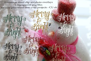 holiday photo overlay clip art