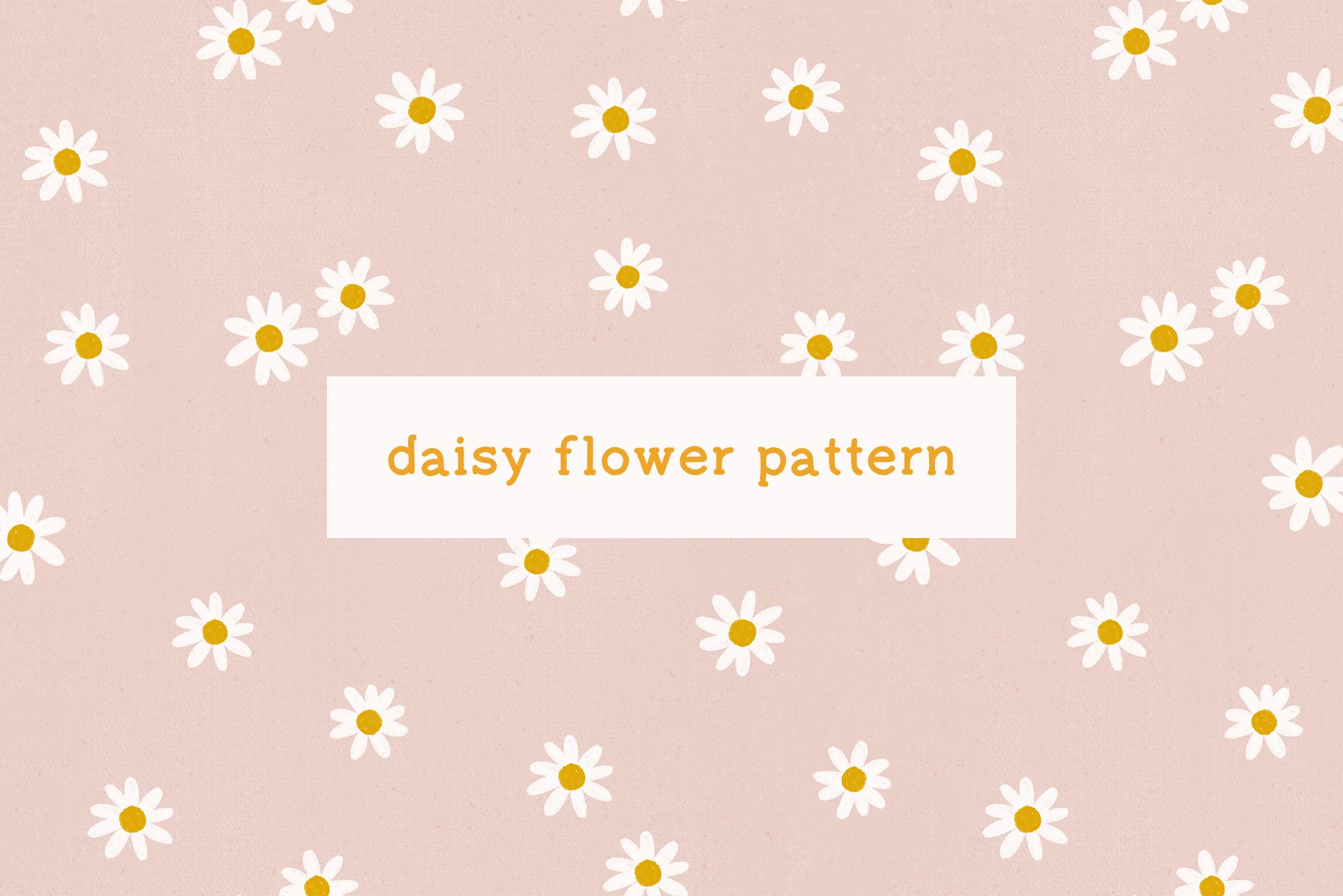 daisy floral seamless pattern print 2
