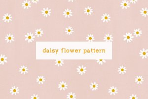 Daisy - Floral Seamless Pattern