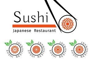 32 Sushi Ornamental Logos