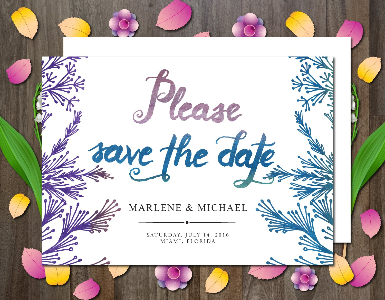 save the date invitation invitation templates creative market. Black Bedroom Furniture Sets. Home Design Ideas