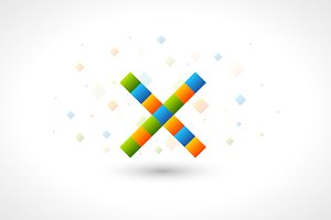 Abstact Logo template like letter X.
