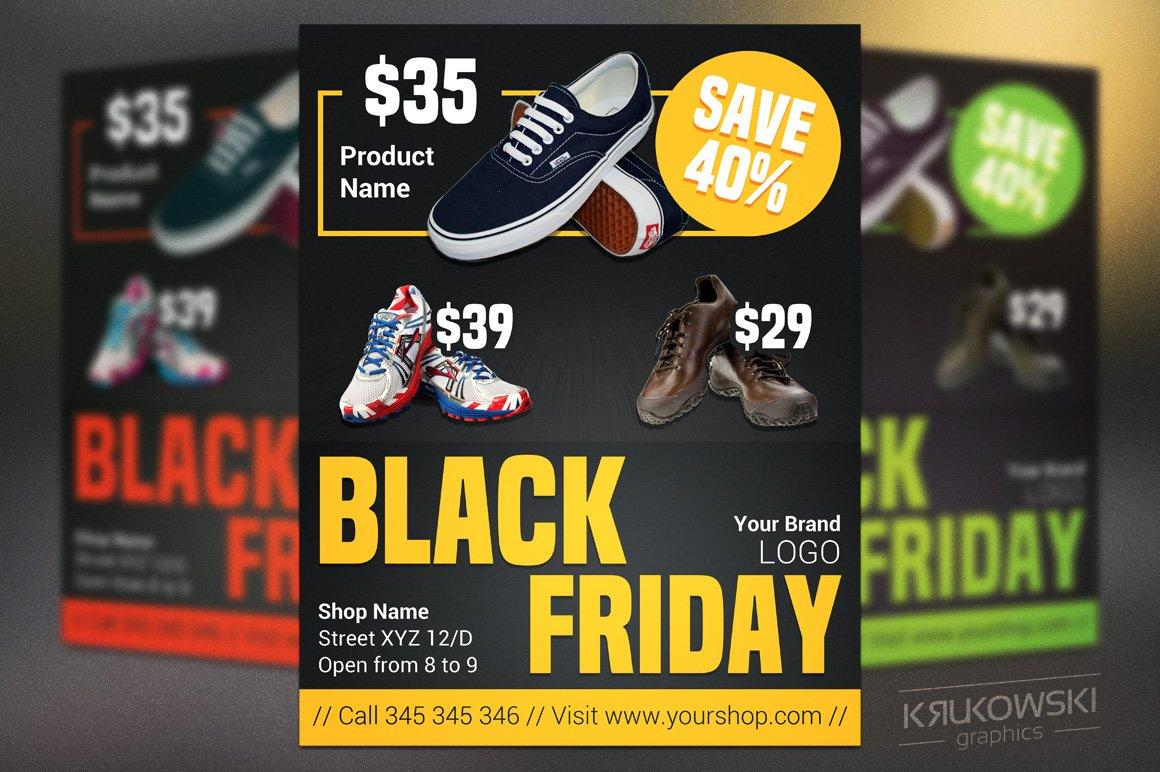 sale black friday flyer template flyer templates creative market