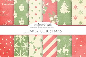 Shabby Christmas Digital Paper