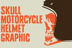 Skull Motorcycle Helmet Graphic