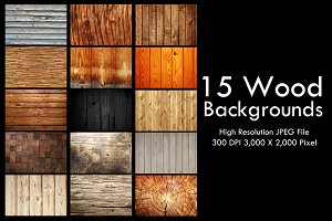 15 Wood Backgrounds