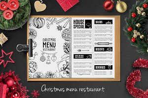 Food menu, restaurant flyer #25