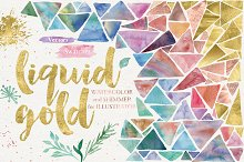 Liquid Gold for Illustrator by  in Palettes