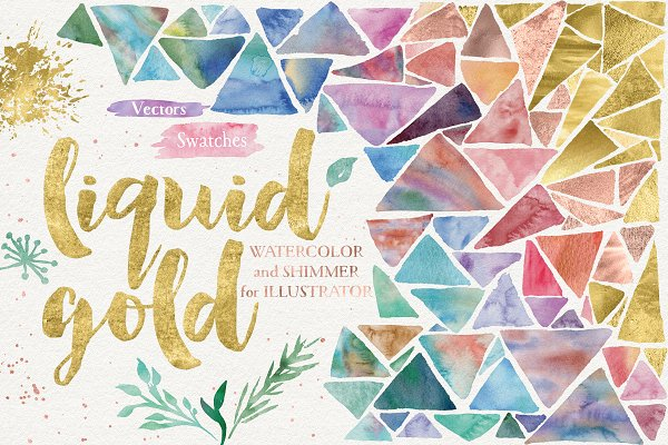 Palettes: Studio Denmark - Liquid Gold for Illustrator