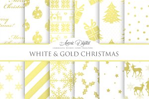 White and Gold Christmas Papers