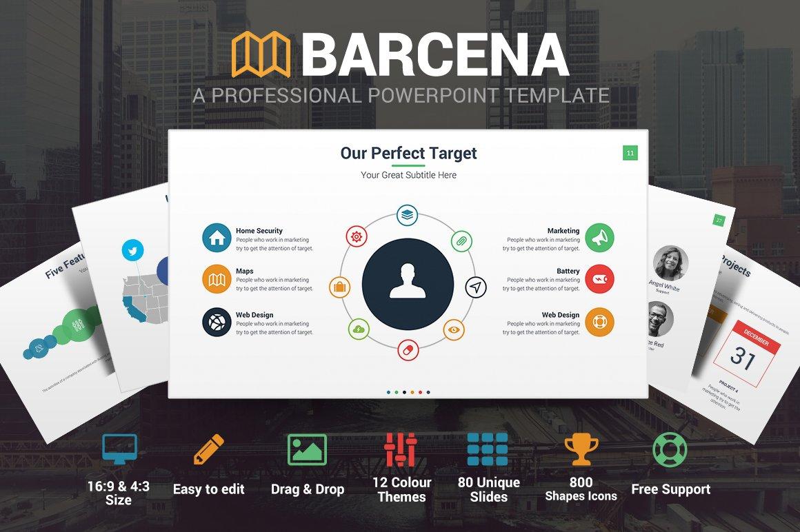 Barcena powerpoint template presentation templates creative market toneelgroepblik Images
