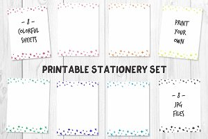 Criss-Cross Printable Stationery