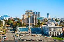 Aerial view of Maidan Nezalezhnosti