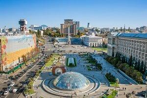 Maidan Nezalezhnosti view, Kyiv