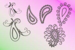 Paisley Ornaments Embellishments
