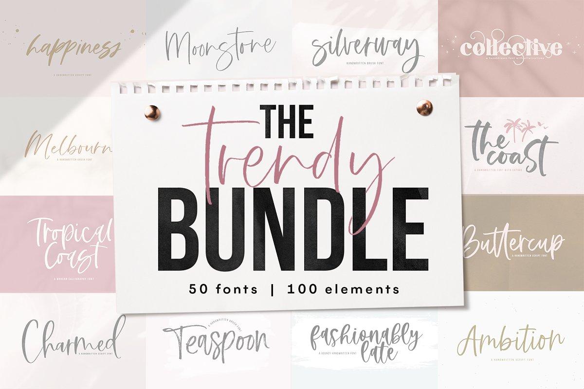 The Trendy Font BUNDLE