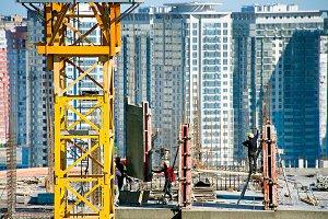 Construction site view. Kiev,Ukraine