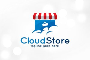 Cloud Store Logo Template