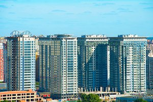 Kiev apartments view, Ukraine
