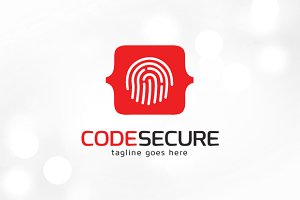 Code Print Secure Logo Template