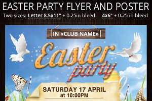Easter Party Flyer And Poster