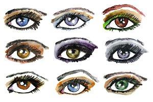 Watercolor make-up