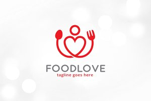 Food Love Logo Template