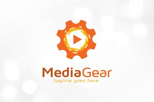 Gear Media Player Logo Template
