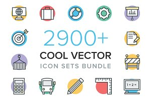 2900+ Cool Vector Icon Sets Bundle
