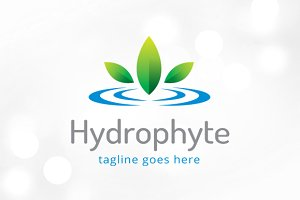 Hydrophyte - Water Plant Logo