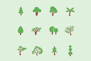 12 Tree & Foliage Icons