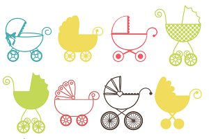 Baby Carriage Photoshop Brushes