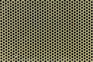 Metal with perforated holes