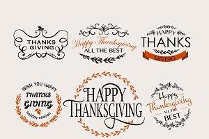 Thanksgiving Logotype Set