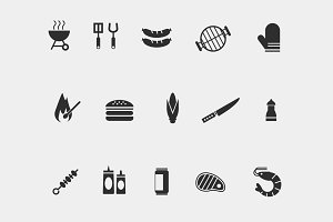15 Grill and BBQ Icons