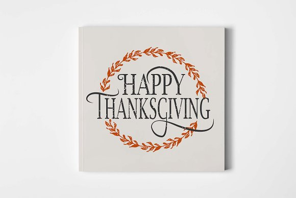 happy thanksgiving card template card templates creative market