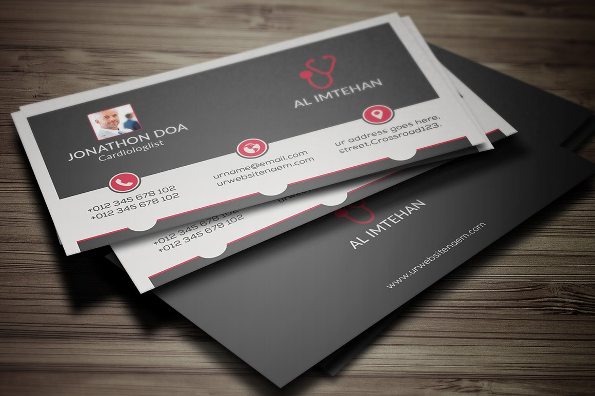 Pharmacy Business Card ~ Business Card Templates ~ Creative Market