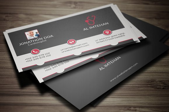 Doctor Business Card Templates Creative Market