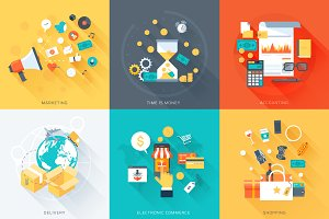 Business theme icon set