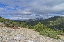 Crimea mountain landscape.