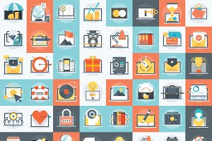 Eighty six various icon set