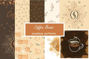 Coffee beans patterns